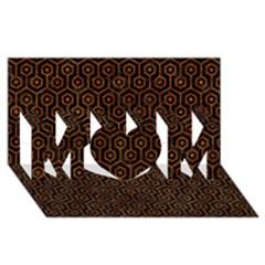 Hexagon1 Black Marble & Brown Marble Mom 3d Greeting Card (8x4) by trendistuff