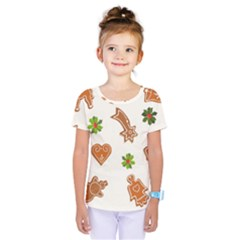 Cute Christmas Seamless Pattern  Kids  One Piece Tee by Onesevenart