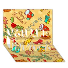 Cute Christmas Seamless Pattern Vector You Are Invited 3d Greeting Card (7x5) by Onesevenart