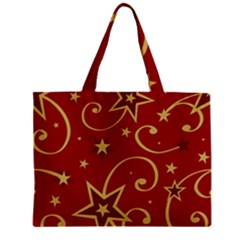 Elements Of Christmas Decorative Pattern Vector Zipper Mini Tote Bag by Onesevenart
