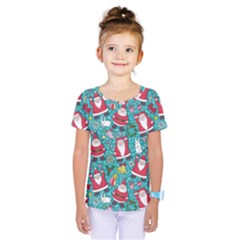 Cute Christmas Seamless Pattern Vector   Kids  One Piece Tee by Onesevenart