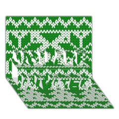 Knitted Fabric Christmas Pattern Vector You Are Invited 3d Greeting Card (7x5) by Onesevenart