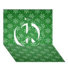 Snowflake Vector Pattern Peace Sign 3d Greeting Card (7x5) by Onesevenart