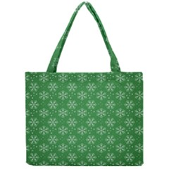 Snowflake Vector Pattern Mini Tote Bag by Onesevenart