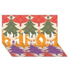 Tree Christmas Pattern #1 Mom 3d Greeting Cards (8x4) by Onesevenart