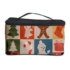 Xmas  Cute Christmas Seamless Pattern Cosmetic Storage Case by Onesevenart