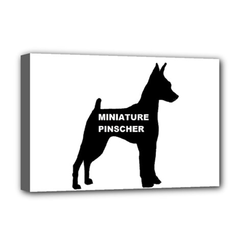 Min Pin Silo Name Deluxe Canvas 18  x 12   by TailWags