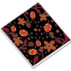 Flowers And Ladybugs 2 Small Memo Pads by Valentinaart
