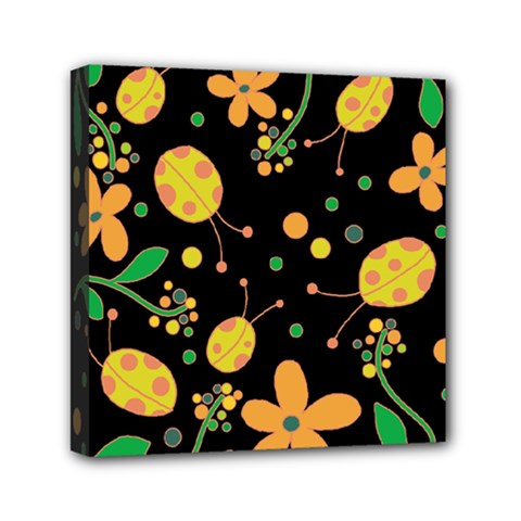 Ladybugs And Flowers 3 Mini Canvas 6  X 6  by Valentinaart
