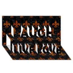 Royal1 Black Marble & Brown Marble (r) Laugh Live Love 3d Greeting Card (8x4) by trendistuff