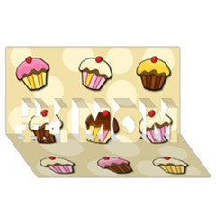 Colorful Cupcakes Pattern #1 Mom 3d Greeting Cards (8x4) by Valentinaart