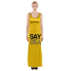 Say Yes Maxi Thigh Split Dress by AnjaniArt