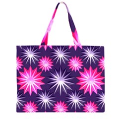 Stars Patterns Christmas Background Seamless Large Tote Bag by Zeze