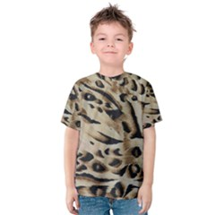 Tiger Animal Fabric Patterns Kids  Cotton Tee by Zeze