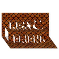 Scales1 Black Marble & Brown Marble (r) Best Friends 3d Greeting Card (8x4) by trendistuff