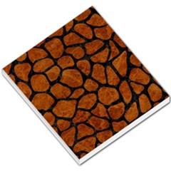 Skin1 Black Marble & Brown Marble Small Memo Pads by trendistuff