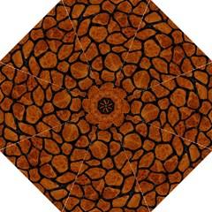 Skin1 Black Marble & Brown Marble Hook Handle Umbrella (large) by trendistuff