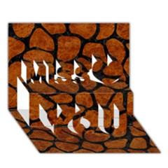 Skin1 Black Marble & Brown Marble Miss You 3d Greeting Card (7x5) by trendistuff