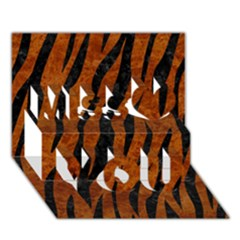 Skin3 Black Marble & Brown Marble (r) Miss You 3d Greeting Card (7x5) by trendistuff
