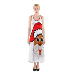Child Of Artemis Christmas Animal Clipart Sleeveless Maxi Dress by Onesevenart