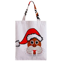 Child Of Artemis Christmas Animal Clipart Zipper Classic Tote Bag by Onesevenart