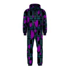 Purple Love Hooded Jumpsuit (kids) by Valentinaart
