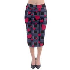 Decorative love Midi Pencil Skirt by Valentinaart