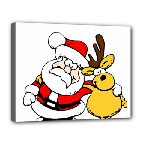 Christmas Santa Claus Canvas 14  X 11  by Onesevenart