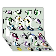 Eyes  Pattern You Did It 3d Greeting Card (7x5)