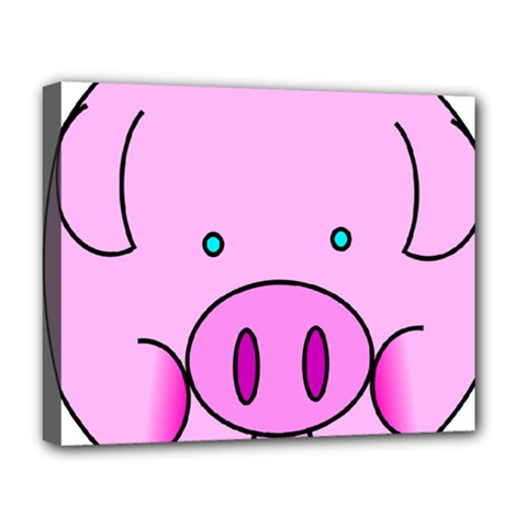 Pink Pig Christmas Xmas Stuffed Animal Deluxe Canvas 20  X 16   by Onesevenart