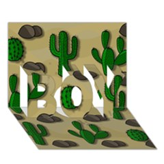 Cactuses Boy 3d Greeting Card (7x5) by Valentinaart