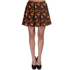 Exotic Colorful Flower Pattern  Skater Skirt by Brittlevirginclothing