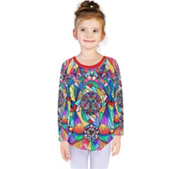Blue Ray Transcendance Grid - Kids  Long Sleeve Tee by tealswan
