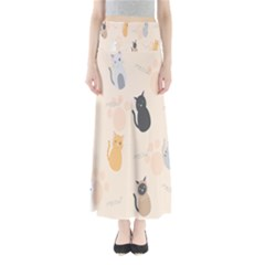 Cute Cat Meow Animals Maxi Skirts by AnjaniArt