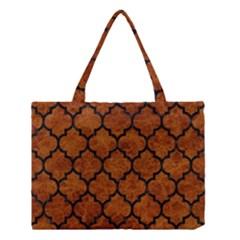 Tile1 Black Marble & Brown Marble (r) Medium Tote Bag by trendistuff