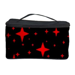 Bright Red Stars In Space Cosmetic Storage Case by Costasonlineshop