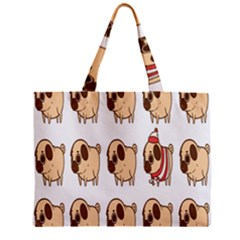 Cute Dog Zipper Mini Tote Bag by AnjaniArt