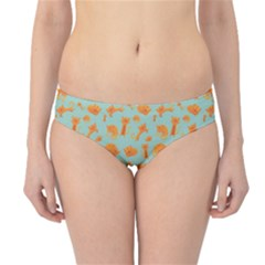 Cute Cat Animals Orange Hipster Bikini Bottoms by AnjaniArt