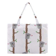Koala Pattern Medium Tote Bag by AnjaniArt