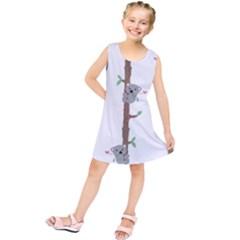 Koala Pattern Kids  Tunic Dress by AnjaniArt