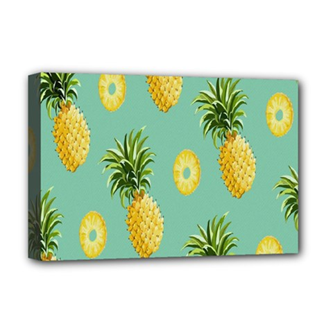 Pineapple Deluxe Canvas 18  x 12   by AnjaniArt
