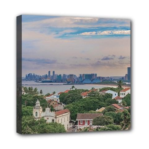 Aerial View Of Olinda And Recife, Pernambuco Brazil Mini Canvas 8  X 8  by dflcprints