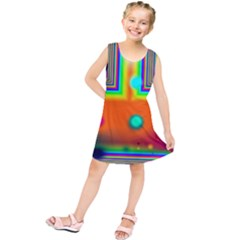 Crossroads Of Awakening, Abstract Rainbow Doorway  Kids  Tunic Dress by DianeClancy