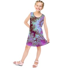 Raspberry Lime Delighraspberry Lime Delight, Abstract Ferris Wheel Kids  Tunic Dress