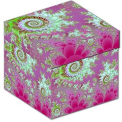 Raspberry Lime Surprise, Abstract Sea Garden  Storage Stool 12   by DianeClancy