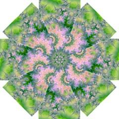 Rose Apple Green Dreams, Abstract Water Garden Straight Umbrellas by DianeClancy