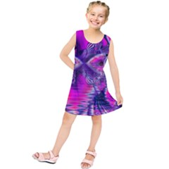 Rose Crystal Palace, Abstract Love Dream  Kids  Tunic Dress