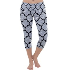 Tile1 Black Marble & Gray Marble (r) Capri Yoga Leggings by trendistuff