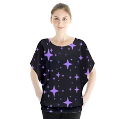 Bright Purple   Stars In Space Blouse by Costasonlineshop