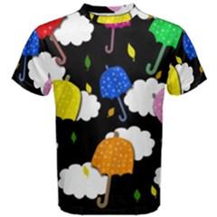Umbrellas 2 Men s Cotton Tee by Valentinaart